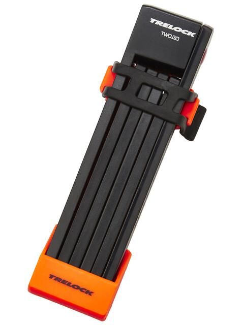 Trelock FS 200 TWO.GO L Faltschloss 100 cm orange